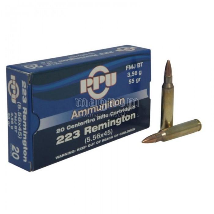 Karabinski metak PPU 223 Rem FMJ