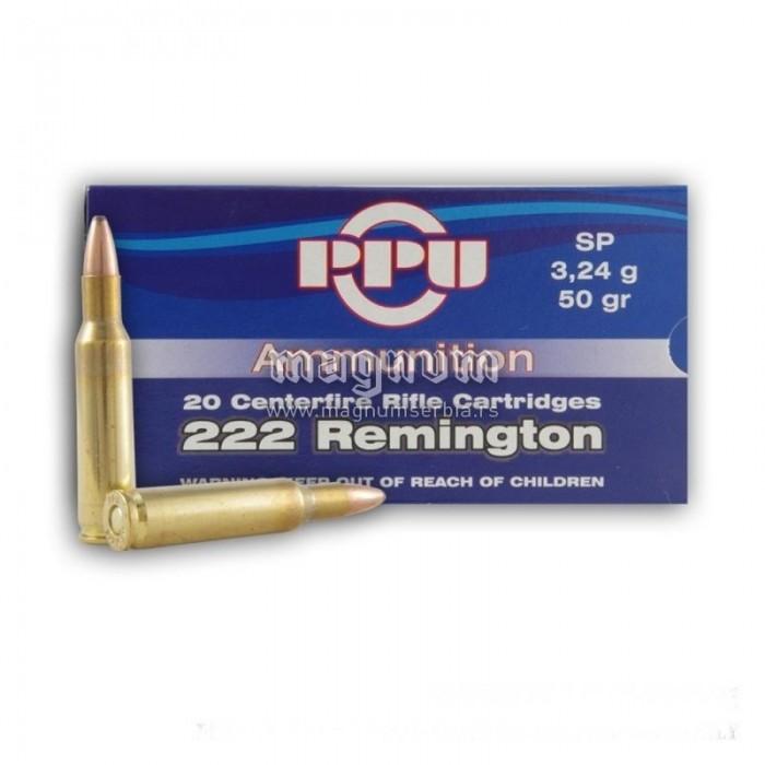Karabinski metak PPU 222 remington SP 3.24gr
